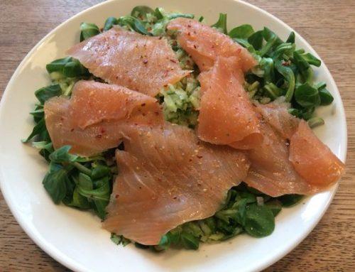 Heerlijke salade van zalm en venkel